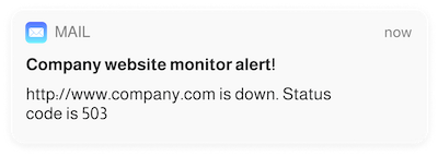Monitoring E-mail Notification